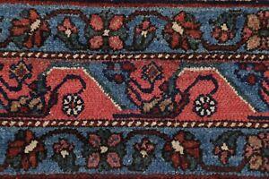 Geometric Vegetable Dye Antique Malayer Hamedan Area Rug Oriental Wool 9'x12'