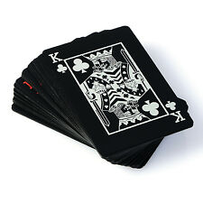 Creative Black Plastic PVC Poker Waterproof Magic Playing Cards Table Game MKLG