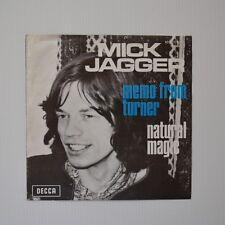 """MICK JAGGER - Memo from turner - 1970 ORIGINAL 7"""" BELGIUM"""