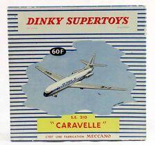 DINKY TOYS 1 / 43 ème  BOITE AVION CARAVELLE / jouet ancien