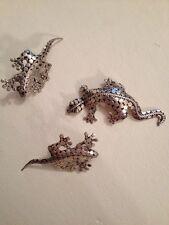 """Beautiful Vintage  925 Silver Lizard  Brooch / Pin 2 1/2"""" Earring 2 1/4"""" (253)"""