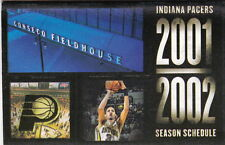 2001-02 INDIANA PACERS BASKETBALL POCKET SCHEDULE