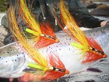 3 V Fly 1 Inch Cascade Flamethrower Potbelly Brass Salmon Tube Flies & Hooks