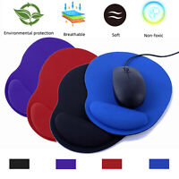 Non-Slip Mice Pad Mouse Mat With Silicone Wrist Rest Computer Laptop PC Mousepad