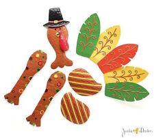 Thanksgiving Decor Tin Turkey Wreath Kit