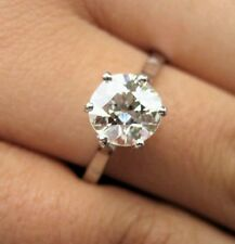 3ct  ROUND BRILLIANT CUT DIAMOND SOLITAIRE ENGAGEMENT RING SOLID 14K WHITE  GOLD