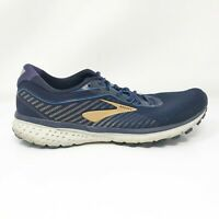 Brooks Mens Ghost 12 1103161D489 Navy Gold Running Shoes Lace Up Size 11.5 D