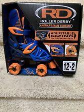 Roller Derby Skates/Adjustable Sizing 12-2/Orange-blue