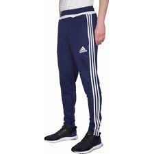 Hombre adidas Tiro Corredores 19 Pantalones Cónico Fútbol Para Negro Azul Marino