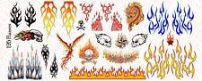 1/6 Scale Custom Tattoos  for Action Figures: Flames pack - Waterslide Decals