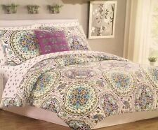 Cynthia Rowley Twin/Twin XL Dorm Room Elephant Medallion Deluxe 6 Pc Bedding Set