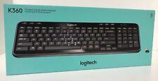 Logitech K360 Wireless Keyboard (920-004088) Gloss Black