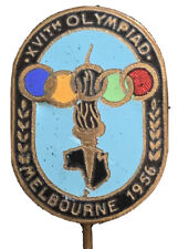 1956 OLYMPIC GAMES MELBOURNE AUSTRALIA Official Olympic Logo Pin