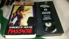 Sorority House Massacre VHS Slasher Horror