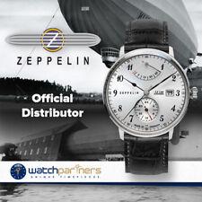 Zeppelin LZ129 Hindenburg Auto watch Power reserve 40mm case Silver dial 7062-1