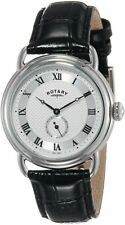 Rotary Vintage Watch GS02424/21 Black Leather Strap Silver Dial  RRP £115