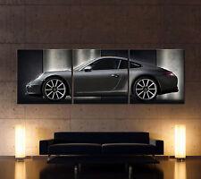 PORSCHE 911 CARRERA S GRAU Leinwand Bild Bilder Kunstdruck Typ 991 Sportwagen XL