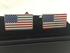 Fantastic Quality U.S. Flag Cuff Links with Free Gift