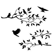 Novelty Bird and Tree Branch Wall Sticker Removable Decal Quote Home Decor C