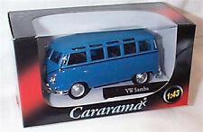 VW Samba in Blue 1-43 scale new in box