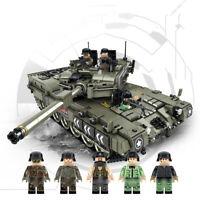 1747pcs Militär Panzer Tank Modell mit WW2 Soldat Figuren Bausteine Spielzeug