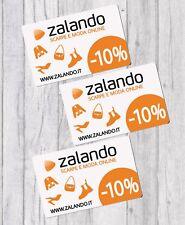 ZALANDO 3 tre buoni buono sconto voucher 10% app abbigliamento scarpe Italia