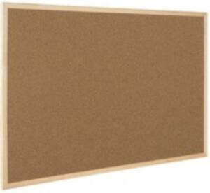 Vision Cork Board Home Office Wall Mount Notes Desk Organiser Medium Wooden