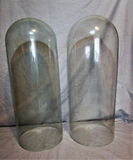 Two Large Antique Glass Domes Display Vintage Display 50cm High Victorian SUPERB
