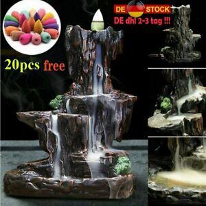 Rückfluss Weihrauch Wasserfall Räuchergefäß Rauch Halter Keramik Weihrauchfass