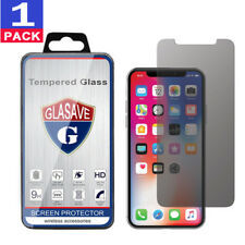 (1Pack) GLASAVE iPhone X Ten 10 Privacy Anti-Spy Tempered GLASS Screen Protector