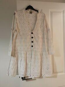 Asos white dress size 10