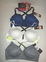 NWT $44 Maidenform Convertible Wirefree Sports Bra DM7992 34B 36B 38B 38C