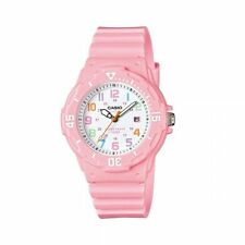 Casio Women's Dive Style Watch With Pink Glossy Resin Strap
