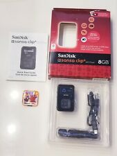SanDisk Sansa Clip Plus 8GB MP3 Player BLACK 1000  OLDIES SONG SR MEMORY CARD