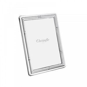 "CHRISTOFLE RUBANS SILVER PLATED 8"" X 10"" PICTURE FRAME #4256790 BRAND NIB F/SH"