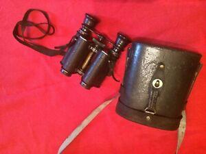 Vintage 8x Binoculars By JUMELLE FLAMMARION SERIE MAXIMA WITH CASE