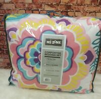 MI ZONE MZ10-0560 TWIN & TWIN EXTRA LARGE FLORAL SIZE PINK COMFORTER SET