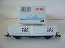 "Märklin h0 4850 conteneurs soutènement DB ""ROLF BENZ"" neuf dans sa boîte m392"