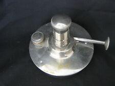 Vintage Kerosene Lamp Table Light Burner Pat'd Mar 20.06 July 17.06 Chrome Plate