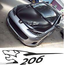 206 PEUGEOT - 2 PEZZI !!! - AUTO MOTO 207 TUNING Adesivo prespaziato KIT SET