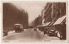 New Street & King Edwards School Birmingham 1929 RP Postcard B817
