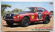 HASEGAWA 1/24 Datsun Fairlady 240Z 1971 Safari rally winner HR-8 scale model kit