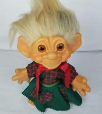 "Dam things troll doll vintage 1964 BIG 12""+ girl mohair authentic christmas"
