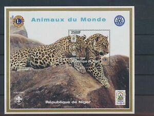 LO55647 Niger 1998 Lions Int leopards wildlife good sheet MNH