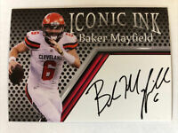 BAKER MAYFIELD 2018 Iconic Ink Rookie RC HOT Cleveland Browns FAC Autograph ACEO