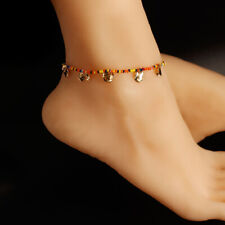Boho Multi-color Beads Circular Pendant Foot Chain Anklet Women Jewelry Gi Y1
