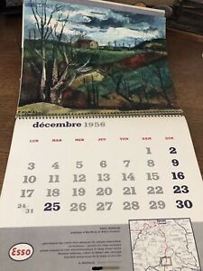 Calendrier Esso 1956 Paysages
