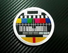 Embroidered Patch Iron Sew Logo TV test television retro color vintage funny t