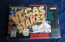 1993 Brand New Still Sealed Super Nintendo SNES Vegas Stakes Video Game