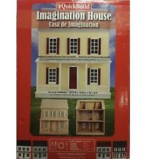 Quickbuild Imagination House Unfinished Dollhouse Kit 1in Scale #67100 DIY
